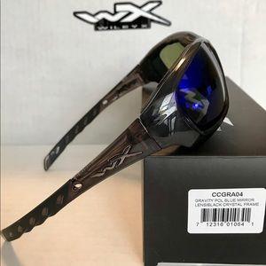 7d2b35e0d93c Wiley X Accessories - GRAVITY POL BLUE MIRROR LENS BLACK CRYSTAL FRAME